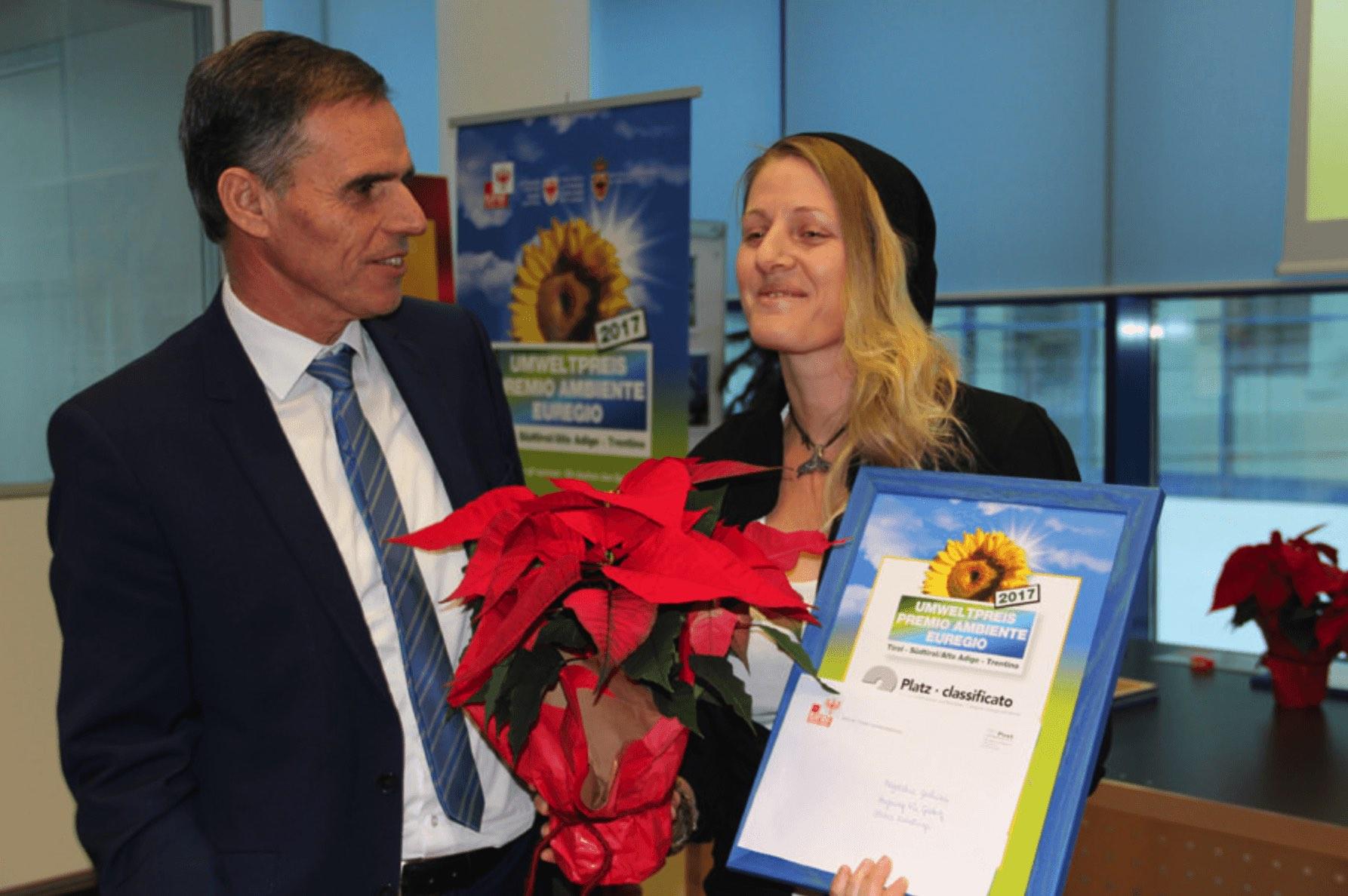 Bozen 2017_Übergabe des EUREGIO Umweltpreises